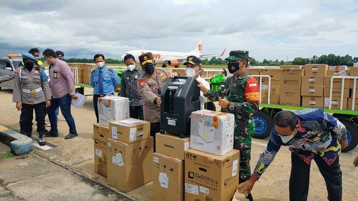 Gubernur Kalteng Sugianto Terima 133 Unit Tabung Gas Oxygen Bantuan Presiden Jokowi