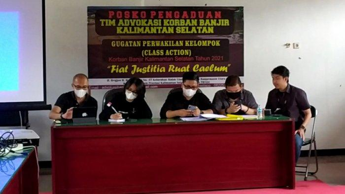 Gugat Pemprov Kalsel ke PTUN Banjarmasin, Tim Advokasi Hukum Korban Banjir Catat Kerugian Immateril