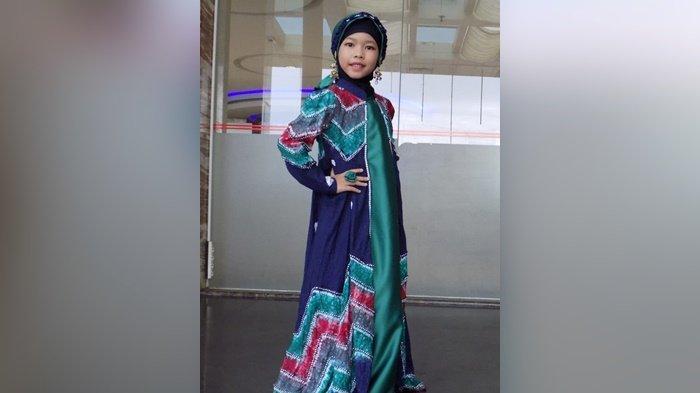 Wakili Kalsel diFestival Model Batik Indonesia, Model Cilik Ini  Promosikan Sasirangan di Jakarta