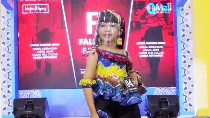 Rancangan sang Bunda Antar Alya Menjuarai Lomba Fashion di Q Mall Banjarbaru