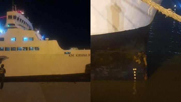 Tabrakan dengan Tugboat, KM Kirana IX Berhasil Merapat di Pelabuhan Trisakti Banjarmasin