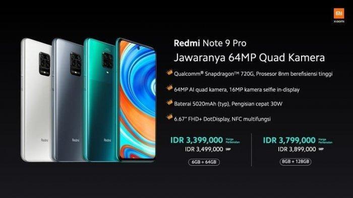 Daftar Harga HP Xiaomi Terbaru Juni 2020, Ini Harga Redmi Note 9 Pro Resmi & Spesifikasinya