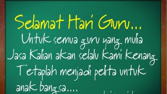 Lirik Lagu Hymne Guru di Peringatan Hari Guru Nasional, 25 November Untuk Guru Tercinta