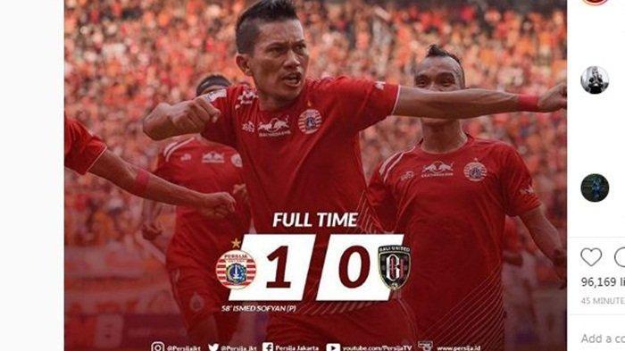 Persija Lolos, Berikut Hasil Persija vs Bali United di Leg 2 Perempatfinal Piala Indonesia 2018