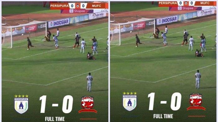 Jacksen F Tiago Berikan Kemenangan Perdana, Hasil Akhir Persipura Vs Madura United : 1 - 0