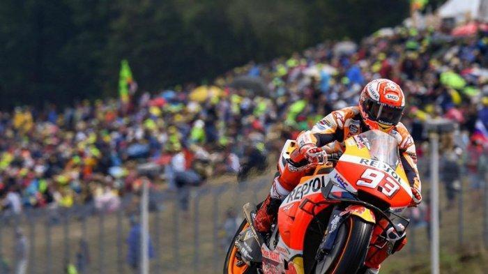 Hasil MotoGP Ceko 2019, Marc Marquez Kembali Juara, Valentino Rossi Finish di Posisi Ini