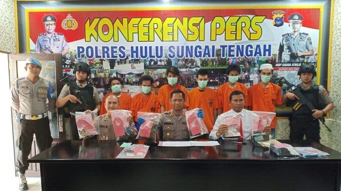 Operasi Antik Intan 2019, Polres HST Sita 104 Butir Charnophene dan 5,78 Gram Sabu