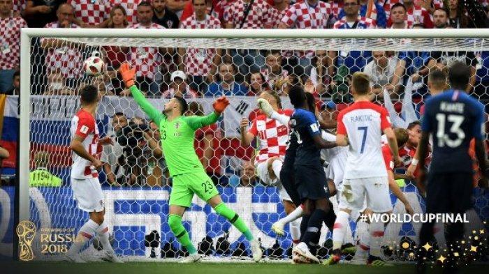 HASIL BABAK 1 Prancis vs Kroasia Final Piala Dunia 2018 Skor 2-1, Gol Griezmann + Bunuh Diri!