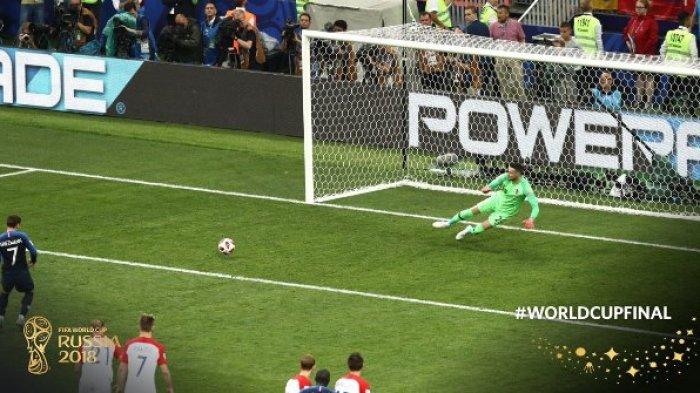 Hasil Prancis vs Kroasia di Final Piala Dunia 2018 - Skor Sementara 2-1, Gol Penalti Griezmann!