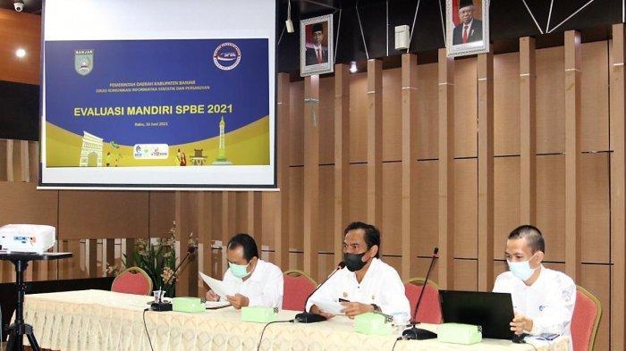 Gelar Rapat Evaluasi, Aidil Basith Berharap Indeks SPBE Kabupaten Banjar Terus Meningkat