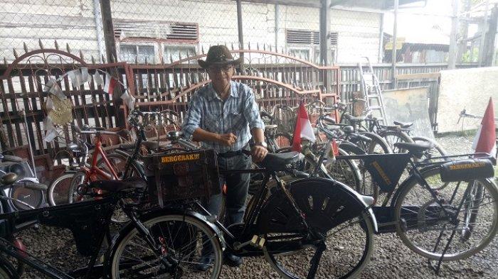 Sepeda Onthel H Zalfi Seharga Rp 30 Juta, Sering Dimandikan dan Ada Tulisan Bergerak