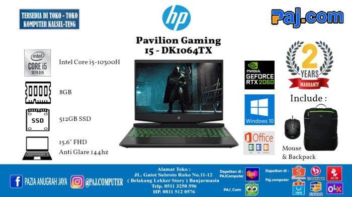 HP Pavilion Gaming 15-DK1064TX, Laptop dengan Core i5 dan RTX 2060 Termurah!