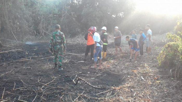 Lahan Pemakaman di Batu Benawa HST Seluas 0,5 Hektare Terbakar, Diduga Akibat Puntung Rokok