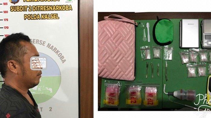 Geledah Rumah di Pematang Panjang Gambut, Polda Kalsel Temukan 10 Paket Sabu Seberat 40 Gram