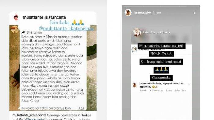 Pihak RCTI bantah kabar Amanda Manopo bakal rehat dari Ikatan Cinta