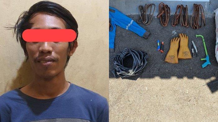 Pencurian di Kalteng : Polisi Bekuk Pencuri Kabel Listrik, Pelakunya Ternyata Mantan Pegawai PLN