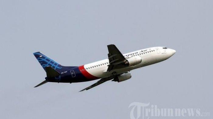 Ilustrasi Pesawat milik maskapai penerbangan nasional Sriwijaya Air.