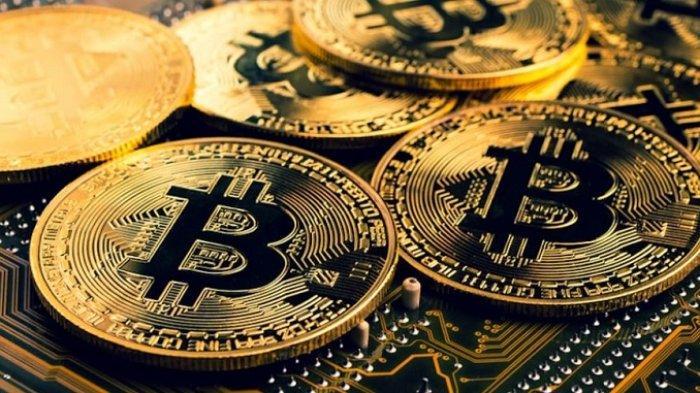 Ilustrasi uang kripto, Bitcoin.
