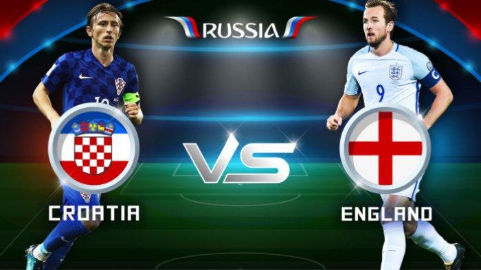 Head to Head & Prediksi Skor Inggris vs Kroasia Semifinal Piala Dunia 2018 Live TransTV