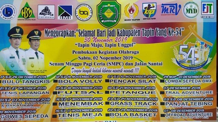 Meriahkan Hari Jadi Ke 54 Kabupaten Tapin Dispora Gelar 16 Lomba Cabang Olahraga Banjarmasin Post