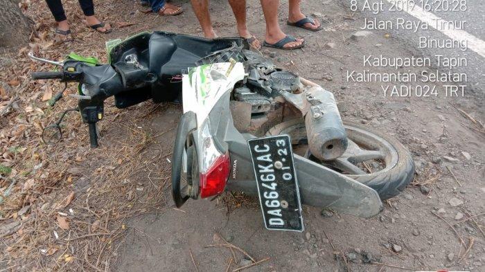 BREAKING NEWS : Pengendara Roda Dua Tewas di Jalan Nasional Km 94 Binuang Tapin