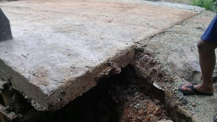 Baru Selesai Dibangun, Oprit Jembatan di Desa Hatungun Tapin Bikin Cemas Warga