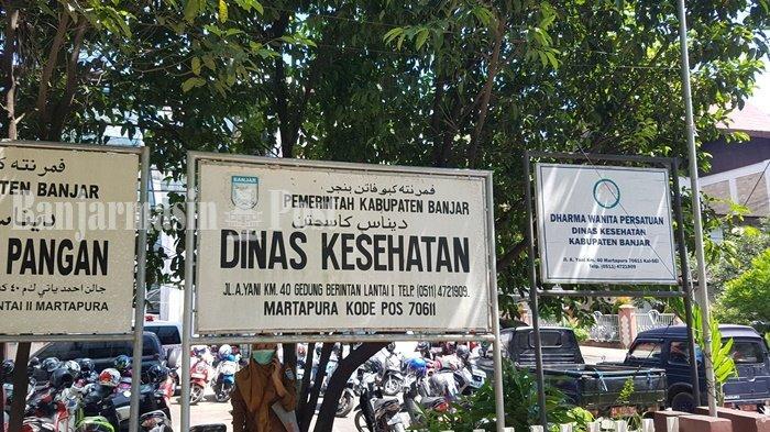 Inilah papan nama Dinas Kesehatan Kabupaten Banjar