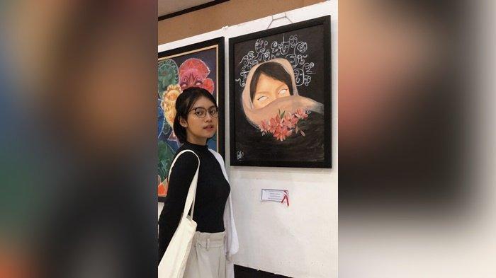 Innasya Pritama Tania Dewi Diminta Jadi Model Pelukis Senior di Taman Budaya Kalsel