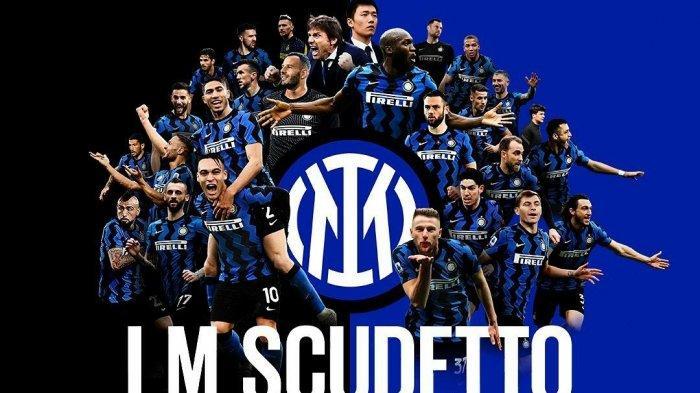 Poster kesuksesan Inter Milan meraih Scudetto ke-19 di Liga Italia Serie A musim 2020/2021