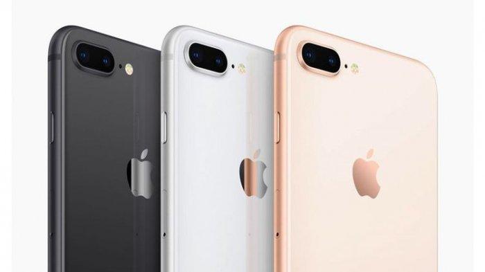 iPhone 8 Plus dalam variasi warna space gray, silver dan gold