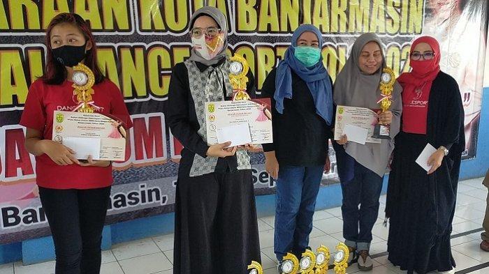 Unggul Dua Perak, Klub De Label Banjarmasin Juara Kejurkot Virtual Solo Dancesport