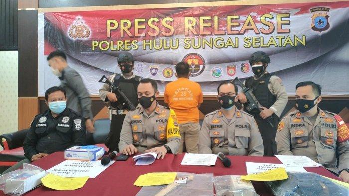 Didor Polisi, Begal Motor di HSS Dibekuk Polisi di Rumah Istri