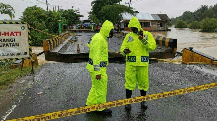 Jalan Nasional di Mataraman Kabupaten Banjar Terputus, Masyarakat Diminta Tunda Perjalanan