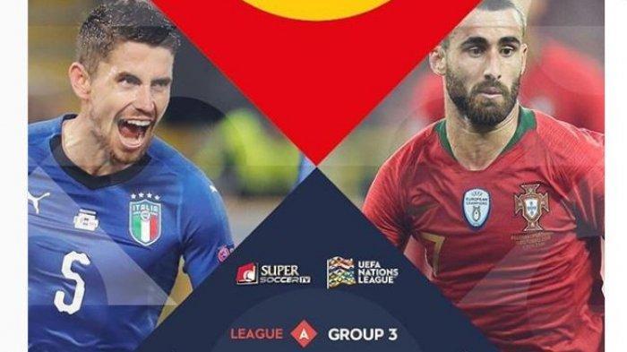 Live Streaming Italia vs Portugal via Streaming Supersoccer.tv UEFA Nations League, Ronaldo Absen