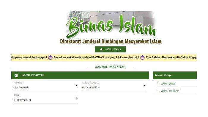 Jadwal Buka Puasa Rabu 29 April 2020/6 Ramadhan 1441 H DKI Jakarta & Kota-kota Besar versi Kemenag