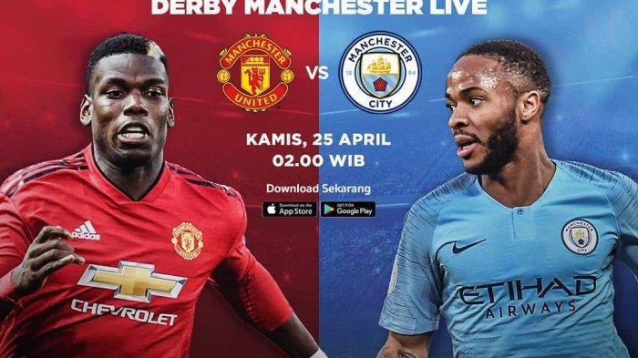 LIVE STREAMING & Prediksi Skor Manchester United vs Manchester City Derby Liga Inggris di RCTI