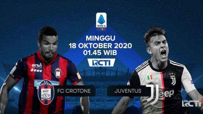 Jadwal Liga Italia di RCTI yang memasuki pekan 4 akan dipanaskan laga Crotone vs Juventus.