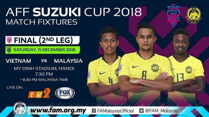 Video - Live Streaming Vietnam vs Malaysia via Live Streaming Fox Sports Leg 2 Final Piala AFF 2018