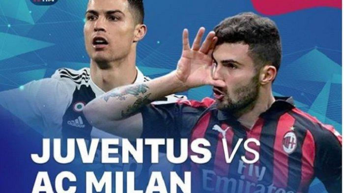 LINK Live Streaming TV Online AC Milan vs Juventus Semifinal Coppa Italia, Live TVRI & Usee TV