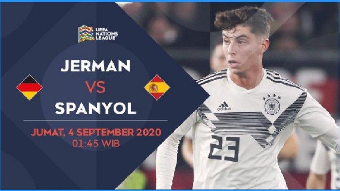 LINK Live Streaming Mola TV Jerman vs Spanyol di UEFA Nations League 2020 Malam Ini