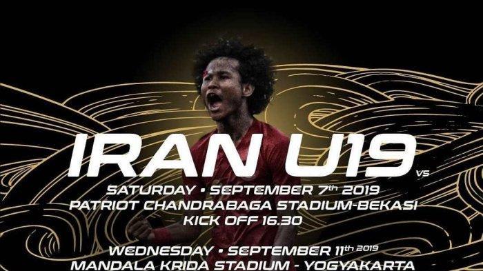 Jadwal & Live Streaming RCTI Timnas U-19 Indonesia vs Iran Hari Ini Sabtu (7/9)