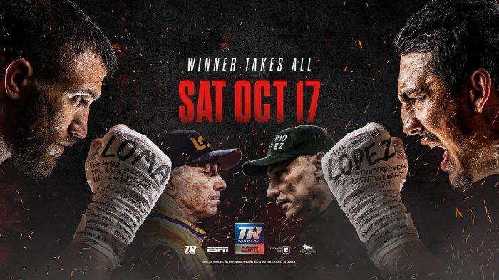 SESAAT LAGI Live Streaming Lomachenko vs Lopez, Tinju Dunia WBA, IBO dan IBF di Live Streaming ESPN