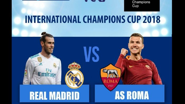 LIVE STREAMING Real Madrid vs AS Roma Live TVRI & LIVE iNews TV ICC 2018 Mulai Pukul 07.00 Wib
