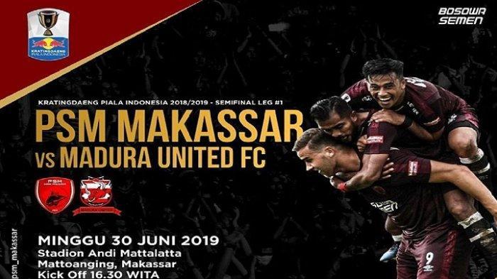 Hasil PSM Makassar vs Madura United di Semifinal Piala Indonesia: Skor Akhir 1-0, Gol Zulham Zamrun