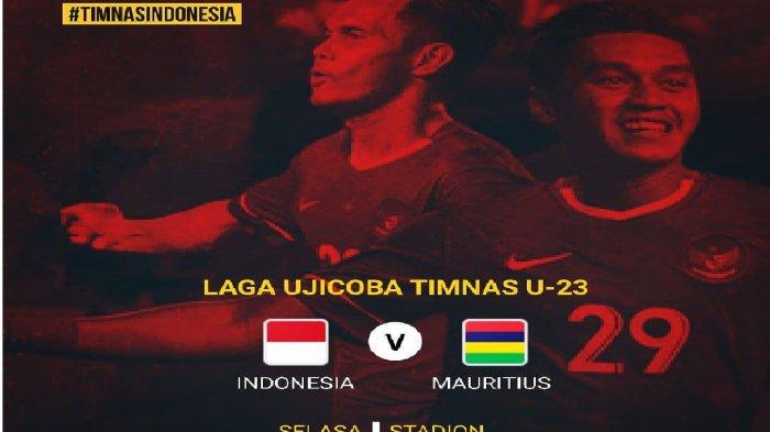 Jadwal Siaran langsung RCTI (Live) Timnas Indonesia vs Mauritius Hari Ini Selasa (11/9/2018)