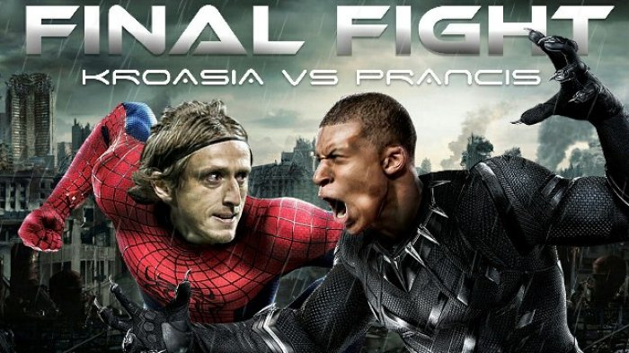 Prediksi Final Piala Dunia 2018 Prancis vs Kroasia - Prediksi Skor, Susunan Pemain Live di Trans TV
