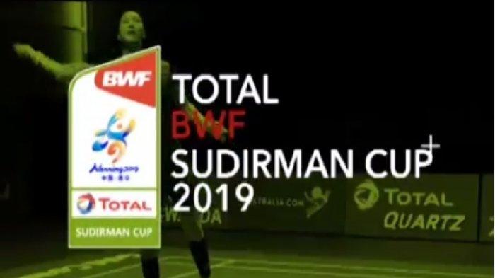 Jadwal Siaran Langsung TVRI Piala Sudirman 2019 : Indonesia Lawan Denmark & Inggris di Grup 1B