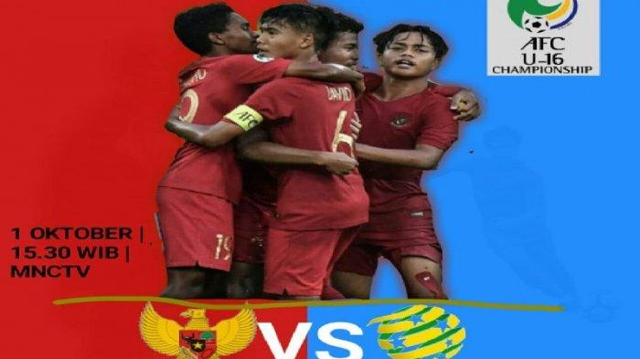 Jadwal 8 Besar Piala AFC U-16 2018 - Indonesia vs Australia Live MNC TV, Korsel vs India Fox Sports