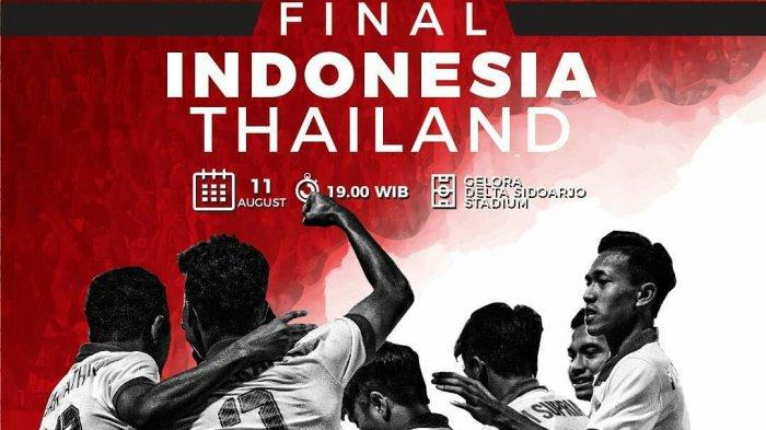 Link Live Streaming Indosiar Indonesia vs Thailand di Final Piala AFF U-16 2018 Streaming Vidio.com