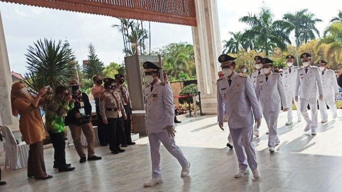 Pelantikan Lima Kepala Daerah Terpilih di Kalsel, Penjabat Gubernur Ingatkan ini